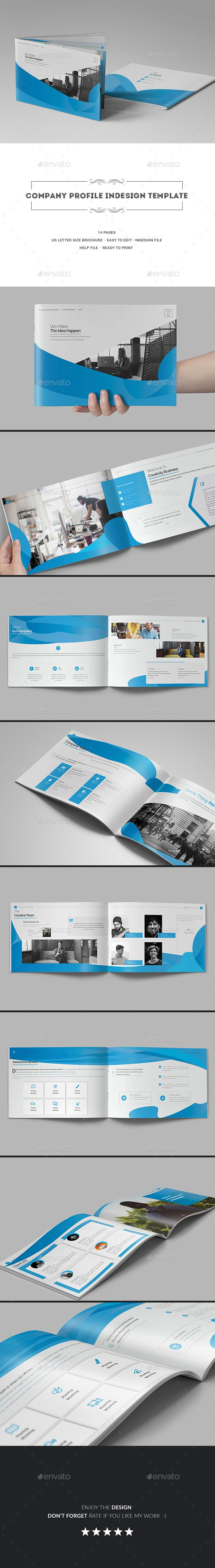 Company Profile InDesign Template - #Corporate #Brochures Download here: https://graphicriver.net/item/company-profile-indesign-template/20009748?ref=alena994
