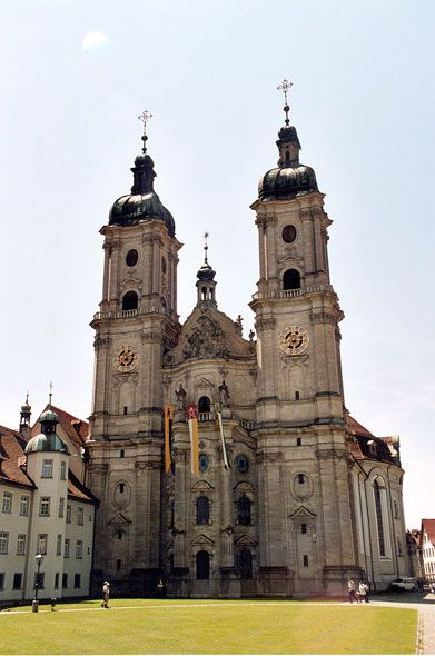 Picture of the Abbey of St Gall, world heritage of Unesco