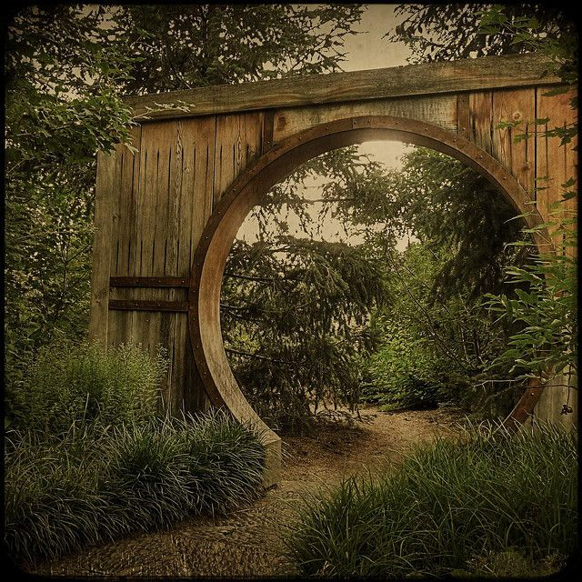 Round doors are good feng shui--must be why Tolkien's hobbits have such energetic and cheerful home lives