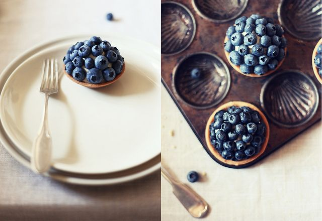 blueberry & lavender tartlets: