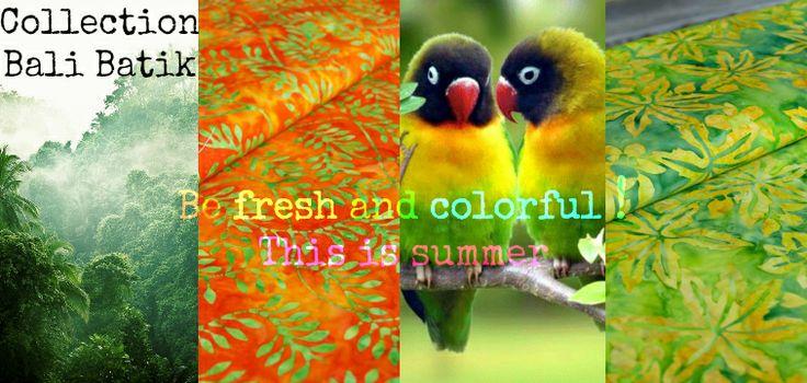 Bali Batik arancia, verde / orange, green - supercut.it