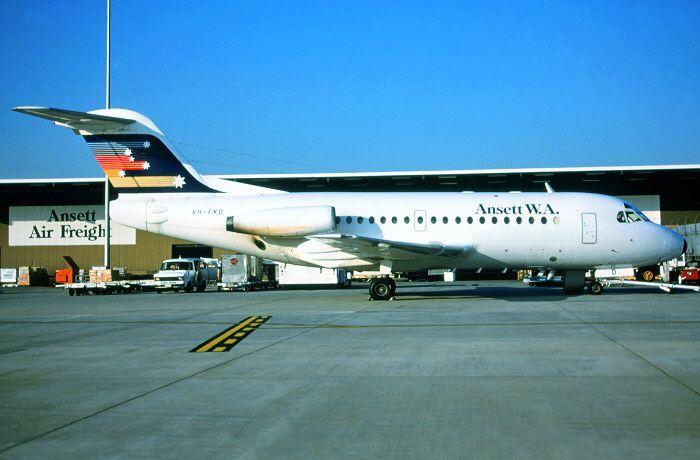 Ansett W.A. Fokker F28-1018 Fellowship (VH-FKC)
