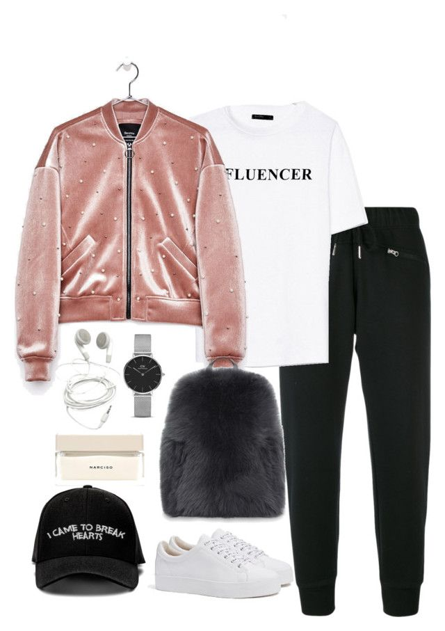 """""""Untitled #4919"""" by theeuropeancloset on Polyvore featuring adidas, Bershka, Brunello Cucinelli, Manolo Blahnik, Daniel Wellington and Narciso Rodriguez"""