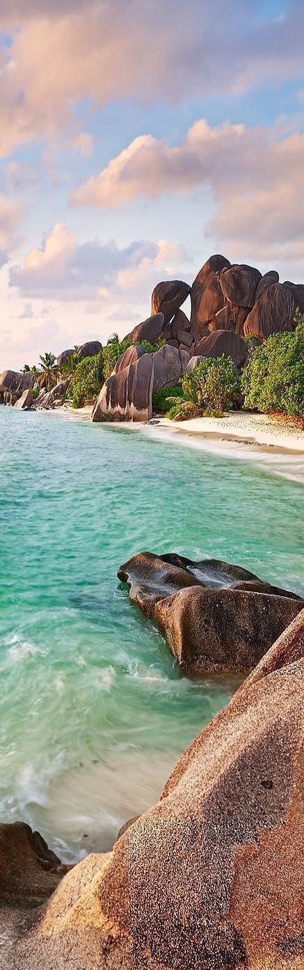 La Digue Beach, Seychelles, Indian Ocean Destination Wedding Inspiration or Honeymoon Location