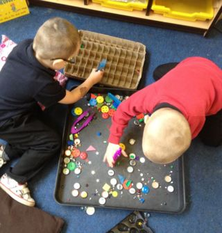 All children have a short, fun, daily physical intervention which is aimed at consolidating their stage of development and moving them forward.    Some fine motor challenges then become part of the continuous provision.