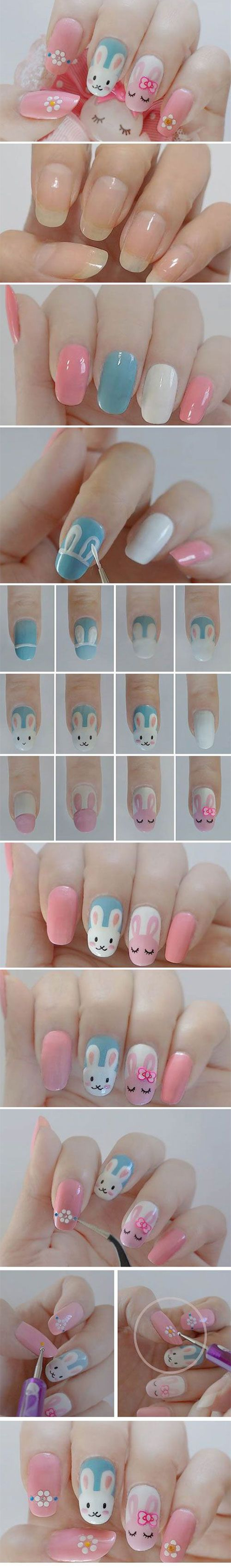 10 Step By Step Easter Nail Art Tutorials For Beginners & Learners 2015