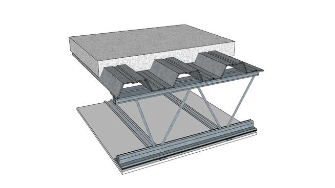 Floor Ceiling Steel Framed 1 1 2 Hour Ul G502 3d Warehouse 3d Warehouse