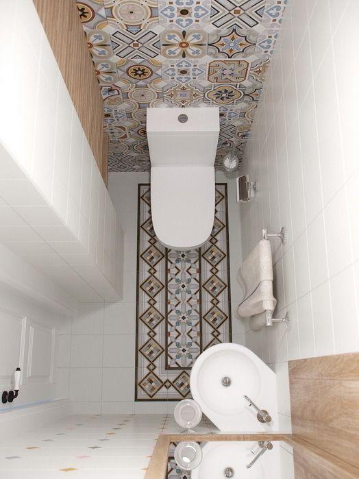 В компактном туалете нашлось место угловому рукомойнику и шкафу.