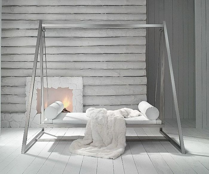 This is going out by the pool!  (Eventually) :-): Rocks Chairs, Bed Swings, Gardens Swings, Full Philippe, Backyard Gardens Greenhouses, Swings Chairs, Plein Design, Beds Swings, Hollywoodschaukel Design