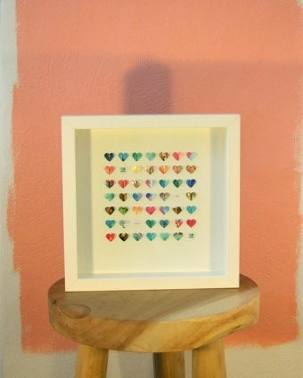 lovely present, pictures of you and your love in the little hearts