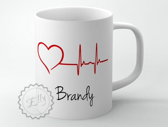 Heartbeat Line Coffee Cup - Personalized Medical coffee Mug, Nurse superb gift for doctors + FREE COASTER - 230