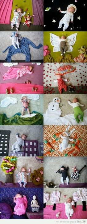 Simple and creative posing ideas for baby! THIS LADY WAS ON THE TODAY SHOW!!! THIS IS SOOO CUTE!! PIN NOW!