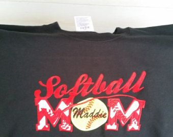Softball Mom Shirts - Team Mom Shirt - Game Day Shirt - Mother's Day Gift - Sports Mom Shirt - Embroidered Shirt - Team Spirit Shirt by fabuellaboutique. Explore more products on http://fabuellaboutique.etsy.com