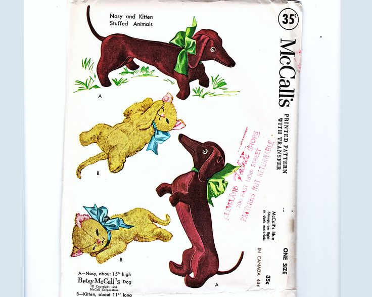 Excited to share the latest addition to my Etsy shop: RARE 1950s Stuffed AnimalToy Pattern McCalls 1810 Betsy McCall Nosy Dachshund Dog Kitten, Stuffed Dog, Stuffed Cat Sewing Pattern UNCUT http://etsy.me/2D2qTwn #supplies #stuffedanimal #vintagesupplies #vintagesewing #vintagepattern #sewingpattern #vintagetoypattern #1950ssewingpattern #mccalls1810 #NosyDachshundDogpattern