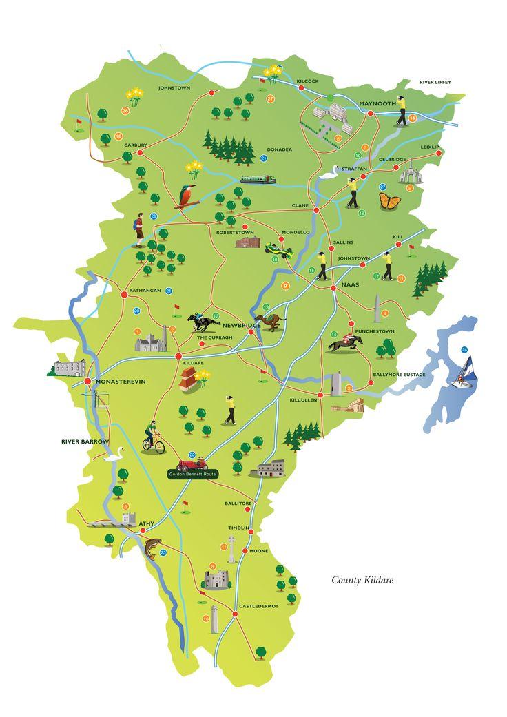 Kildare Tourist Map © Eamon Sinnott & Partners