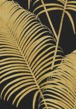 €73,90 Prezzo per rotolo (per m2 €13,86), Carta da parati fiori, Tessuto base: Carta da parati TNT, Superficie: Liscio, Effetto: Opaco, Design: Fronde di palma, Colore di base: Nero, Colore del disegno: Giallo sabbia, Caratteristiche: Buona resistenza alla luce, Bassa infiammabilità, Rimovibile, Stendere colla sul muro, Lavabile