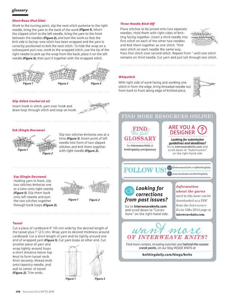 Interweave Вязаные: Подарки 2014 - занижение - занижение