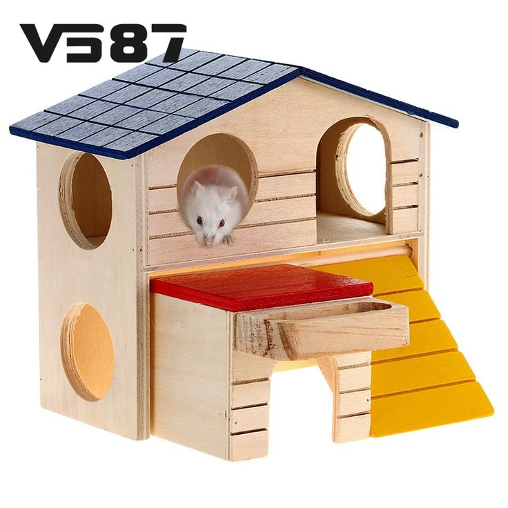 Rat House Wooden Hamster  Ladder Pet Small Animal Rabbit Mouse Hideout Luxury Home 2 Storey Platform Playhouse Nest #>=#>=#>=#>=#> Click on the pin to check out discount price, color, size, shipping, etc. Save and like it!