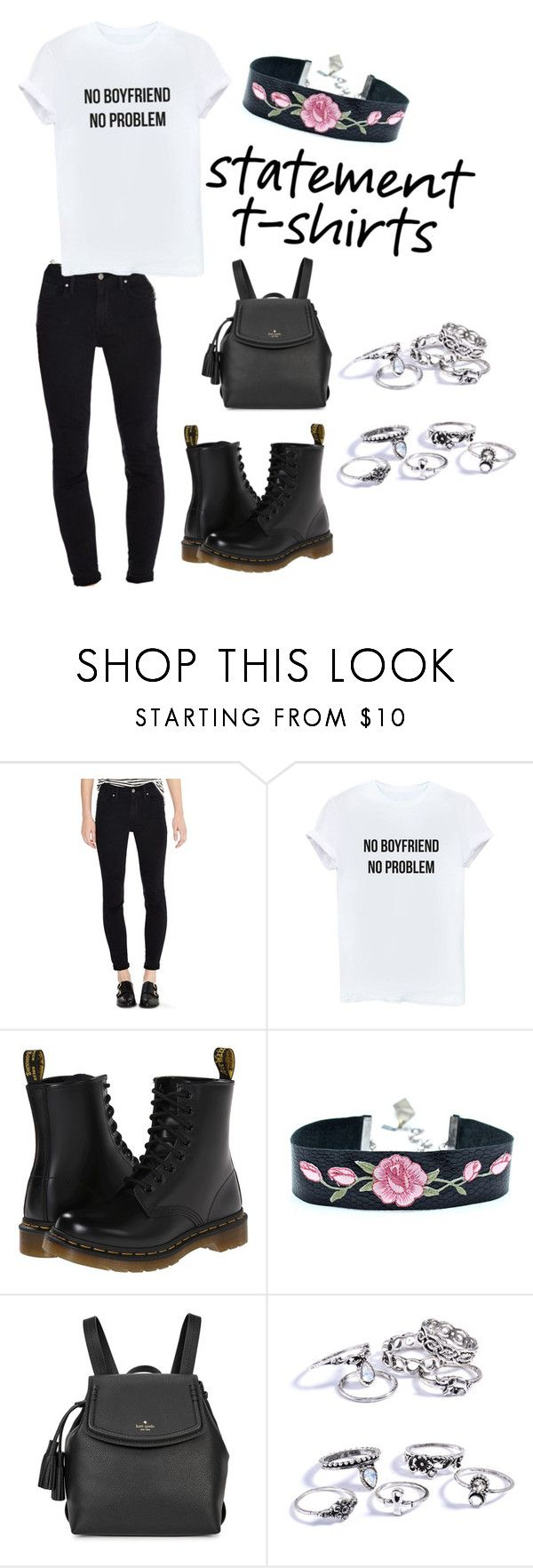 """""""Geen titel #80"""" by amberagterberg ❤ liked on Polyvore featuring Levi's, Dr. Martens and Kate Spade"""