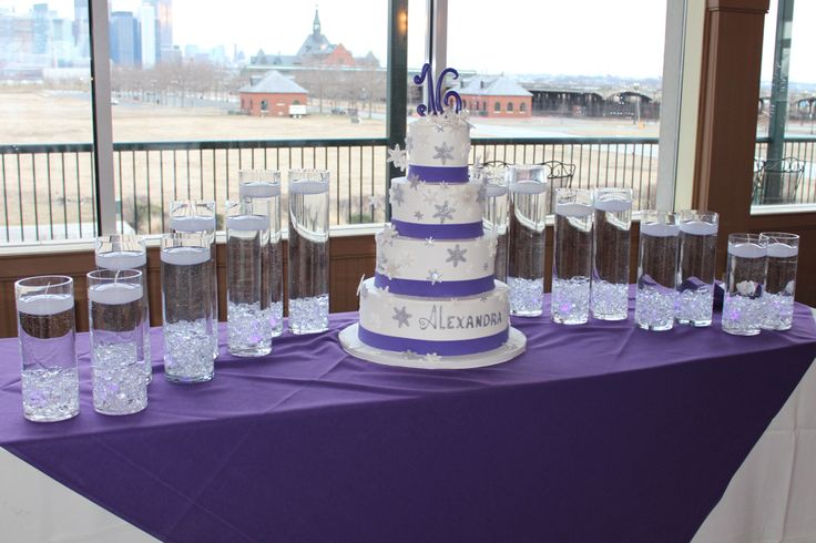 Sweet 16 Candle Lighting Vases with Floating Candles Display