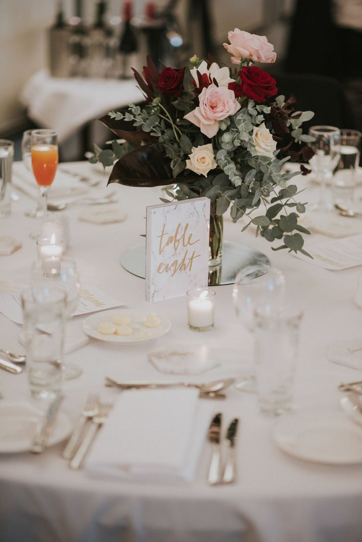 Jenny & Tony | Wedding Centerpiece | Floral Wedding Centerpiece | Wedding Reception | Wedding Reception Decor