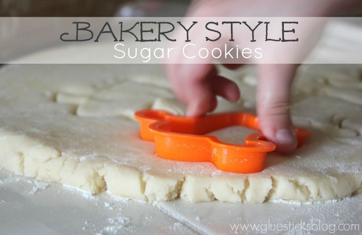 Bakery Style Sugar Cookie Recipe {absolutely delicious! Nice and soft, but still keep their shape after baking!}