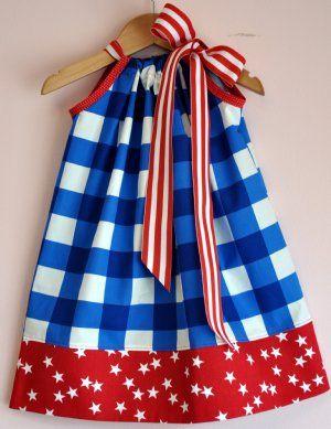 4th of July Pillowcase Dress