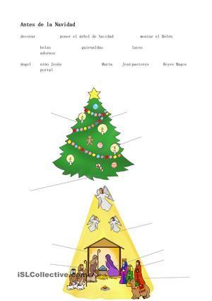 Hojas de trabajo para trabajar el tema de Navidad con el vídeo del Tío Spanish. Las hojas contienen la información como usar las hojas y el link para el vídeo. Espero que os guste. - Trabajos ELE