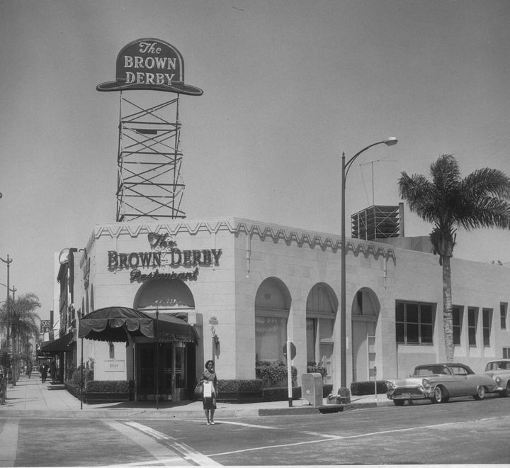 Exterior of the Brown Derby Restaurant In Beverly Hills