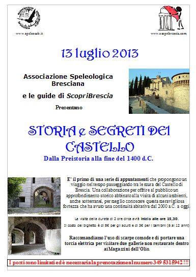 Storia e Segreti del Castello a Brescia http://www.panesalamina.com/2013/14087-storie-e-segreti-del-castello-a-brescia.html