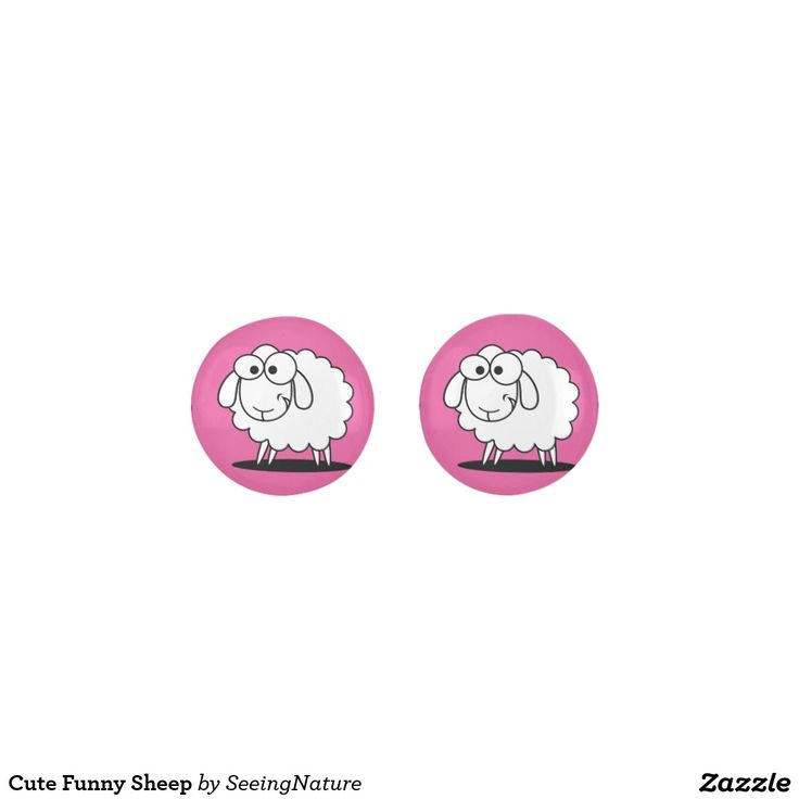 Cute Funny Sheep Earrings
