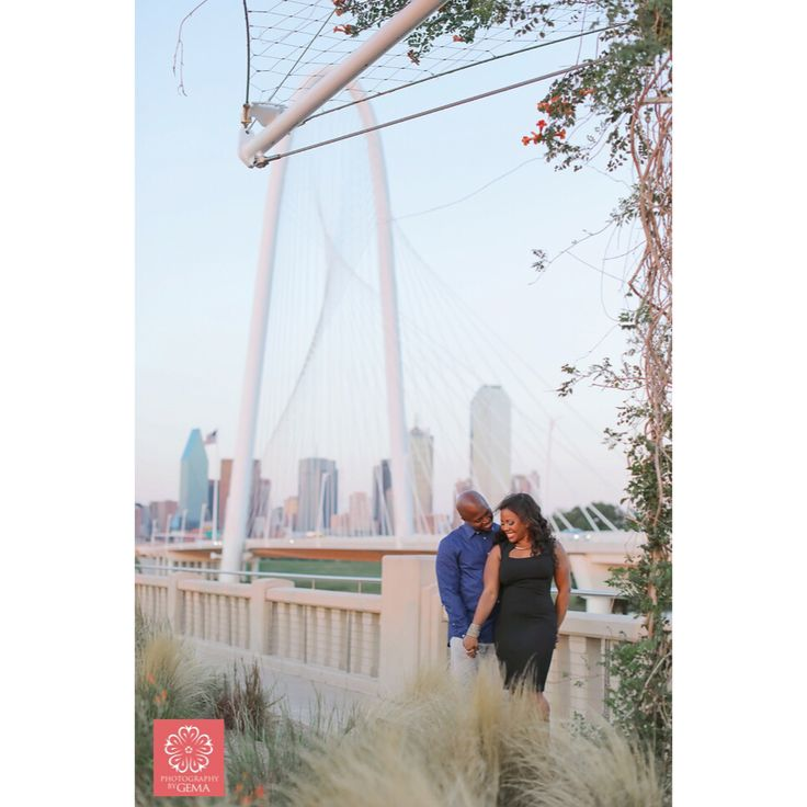 Engagement session in downtown Dallas, Texas