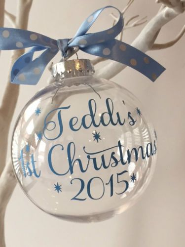 PERSONALISED-BABYS-1ST-CHRISTMAS-XMAS-BAUBLE-TREE-DECORATION-GIFT