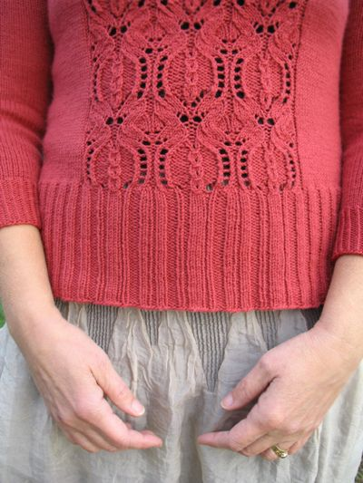Pomegranate ~ this knit sweater