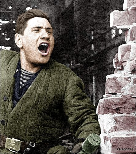 Soviet sailor in Stalingrad 1942 | Recolored using Photoshop… | Flickr, pin by Paolo Marzioli