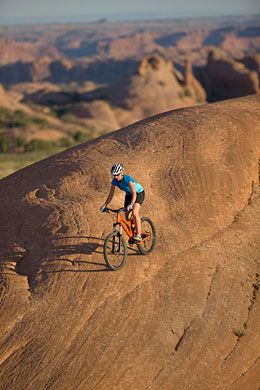 Moab, Utah where there are some great mountain biking trails.