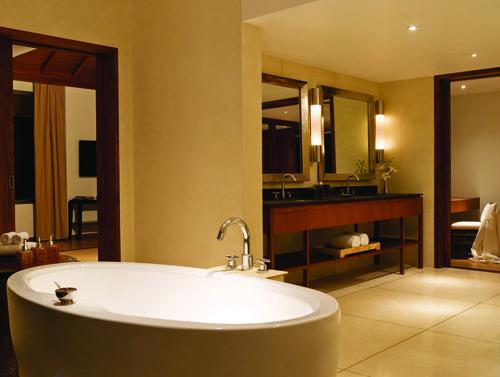A luxurious bath in an even more luxurious bathroom #Luxury #Goa
