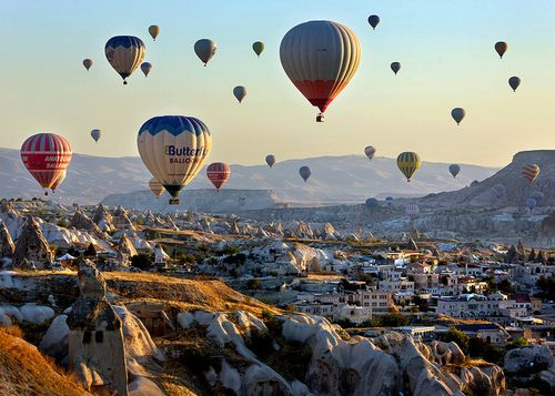 """Stunning Landscape - Cappadocia  Turkey The mysterious rock formations and underground cities of Cappadocia make this region of Turkey one the most beautiful in the world. The rich history of this site can be told through the villages, subterranean churches and fortresses that have been carved straight into the soft, porous, eerily eroded rock. Popular activities in the region include visits to the underground cities, viewing the ancient Christian cave art, seeing the """"fairy chimney"""" rock…"""