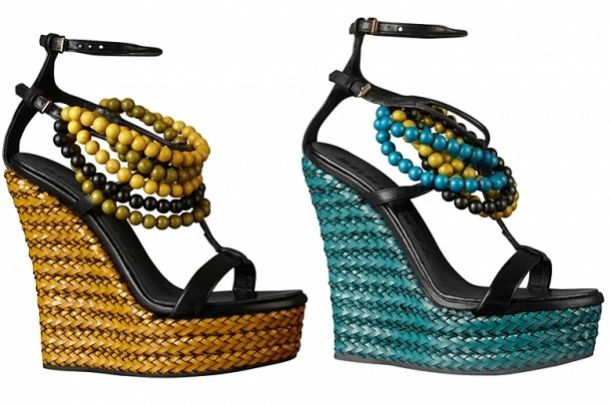 africanNails Art Ideas, Burberry Wedges, Colors Nails, Woman Shoes, Wedges Shoes, Bohemian Look, Burberry Prorsum, African Style, Burberry 2012