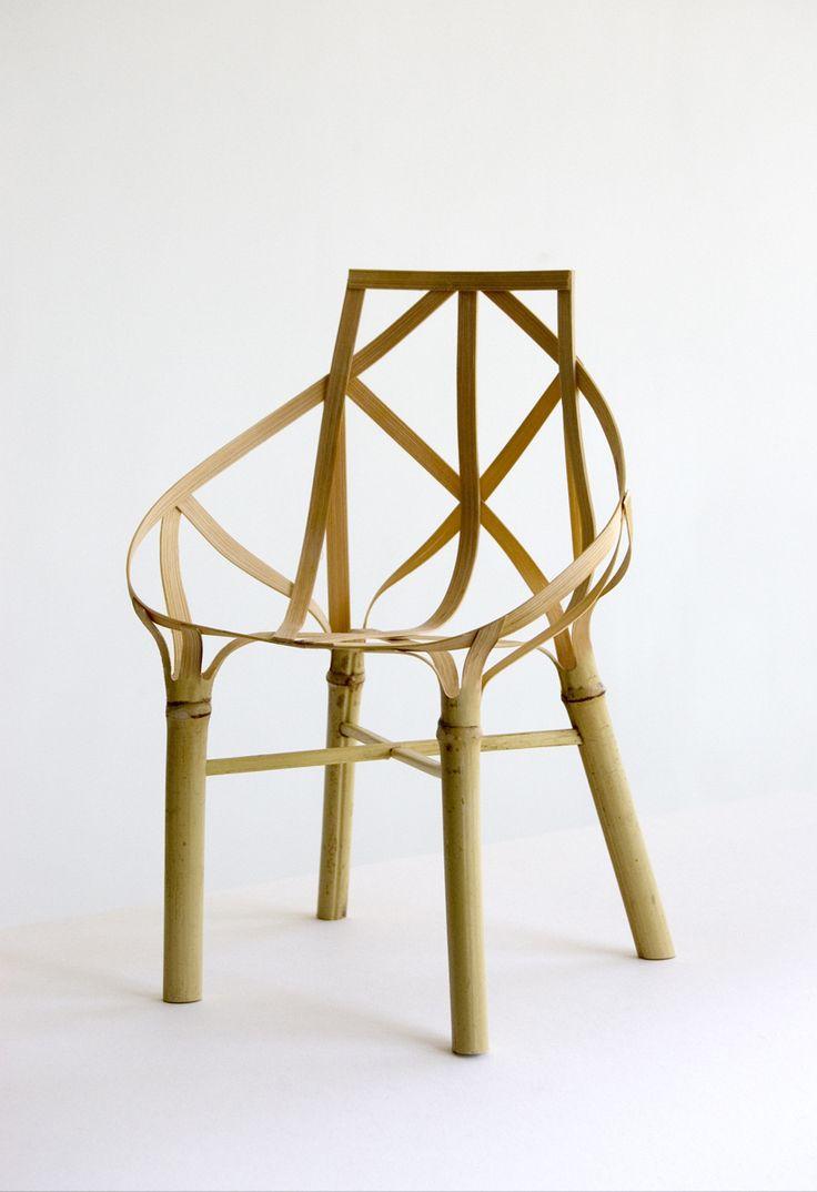 Samuel Misslen, atelier [jes], Lin Jiang-, Bamboo Chair, bambou, 40x44x80cm, courtesy NTCRI © atelier [jes] #samuelmisslen #atelierjes #linjiang #bamboo #salonRevelations #leBanquet #finecraft #bamboochair #creation #art #contemporary