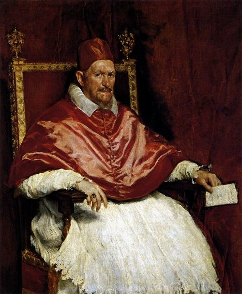 Portrait d'Innocent X par Diego Vélasquez (1650), Rome, galerie Doria-Pamphili.