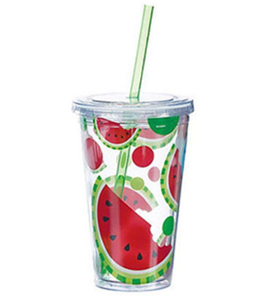 Cute cups with lids and straws