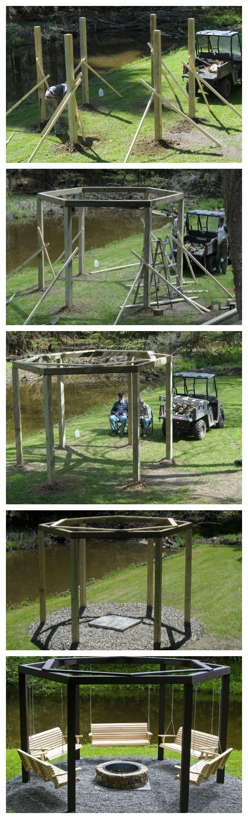 Backyard bonfire swings, would be awesome around the campfire at the cabin. @Cindy Hood Holley