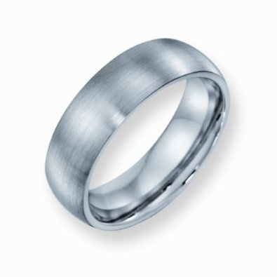 Cobalt Chromium Satin Finish 7mm Comfort Fit Wedding Band Ring (SIZE 6-13 ): Jewelry: Amazon.com