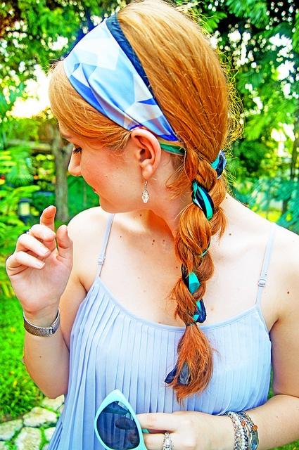 summer scarf braid