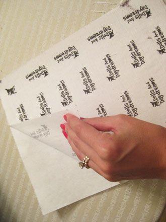 transfert sur tissu avec papier de congélation, imprimante et vinaigre