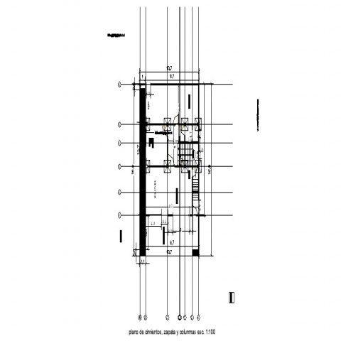 Column structure details plan 2d view drawing autocad file