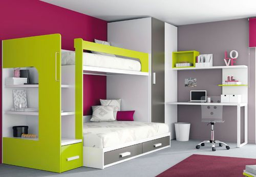 kinder hochbett junge und m dchen kids up 2 72. Black Bedroom Furniture Sets. Home Design Ideas