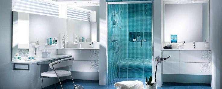 Salle de bain moderne Mobalpa Kendo blanc brillant