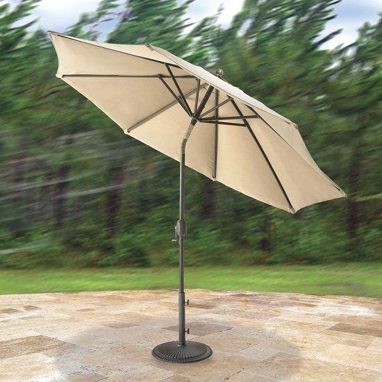 Wind-Adapting Market Umbrella Flexes During High Winds